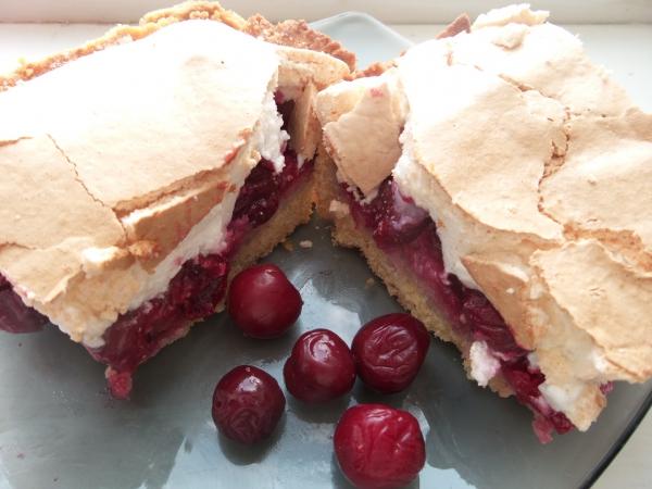 рецепт торта вишни под безе